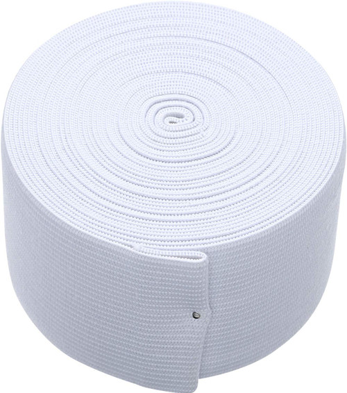 AK TRADING CO. Knitted Elastic 2'' Wide X 50 Yards - White