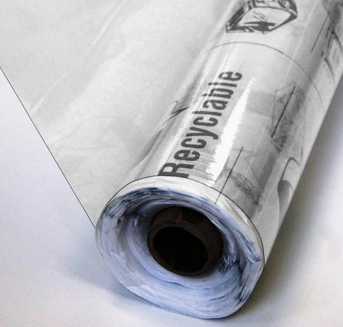 4 Gauge Clear Vinyl 54-Inch Wide x 25-Yards Roll
