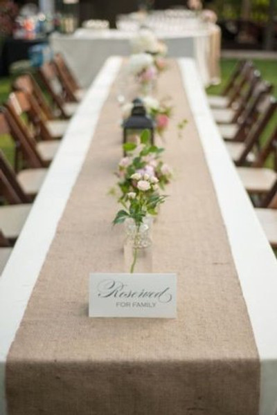"""AK TRADING 12"""" x 108"""" Natural Burlap Table Runner. Made with Fine Premium Quality 12Oz Burlap"""