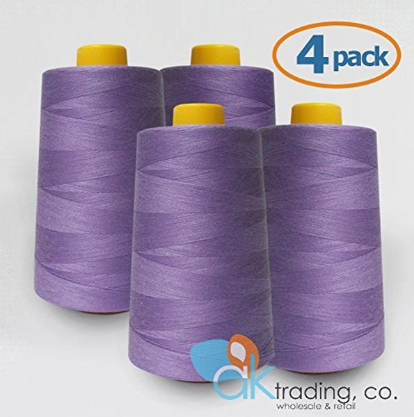 4 Cone 6000 Yard Sewing Thread Polyester Serger Overlock Quilting Sewing Machine