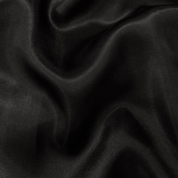 """Black Satin Fabric 60"""" Inch Wide - By the Yard - For Weddings, Decor, Gowns, Sheets, Costumes, Dresses, Etc"""