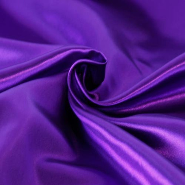 "Solid Satin Fabric - Purple - 60"" Wide - SOLD BTY"