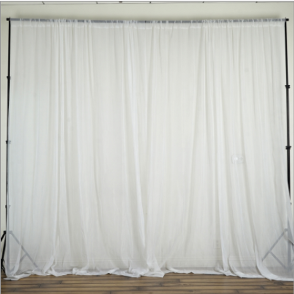 """120"""" Wide (10Ft Wide) Sheer Voile Drape Panels - Select from 6ft to 50ft Length"""