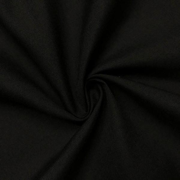 "60"" Black Premium Polyester Cotton Blend Broadcloth"