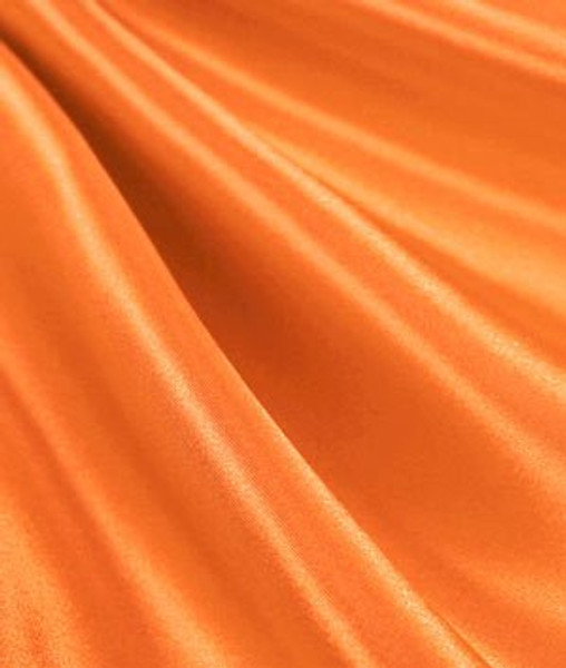 "Orange - 60"" Wide Charmeuse Satin Fabric"