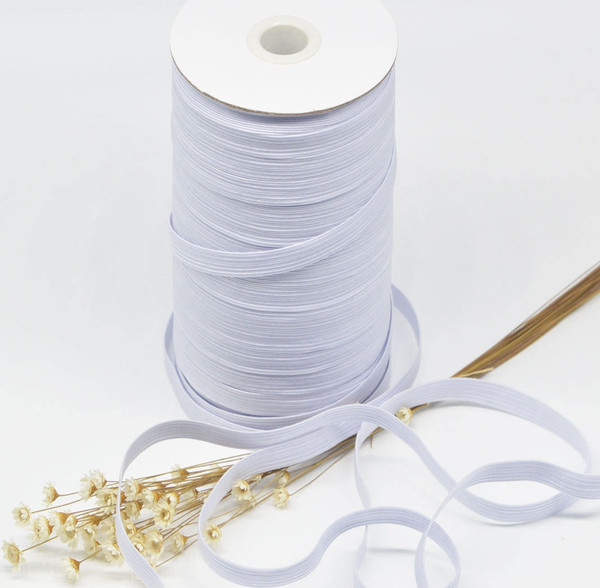 AK TRADING CO. Braided Elastic 1/4'' Wide 144 Yards - White