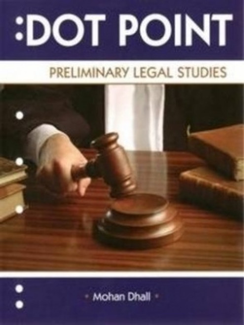 Dot Point Preliminary Legal Studies