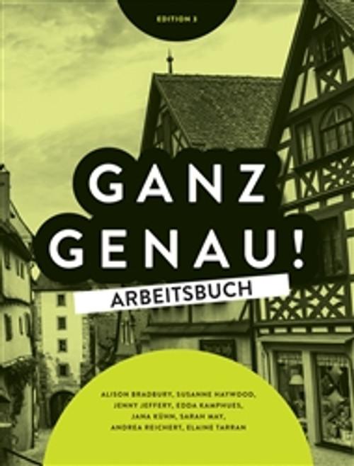 Ganz Genau - Workbook (Inc Audio CD/DVD) (3E)