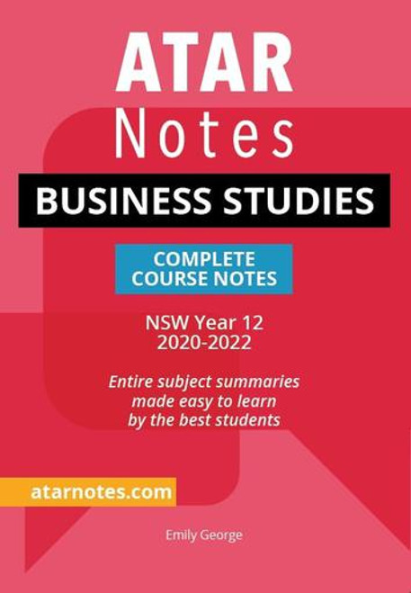 ATAR NOTES HSC Business Studies Complete Course Notes