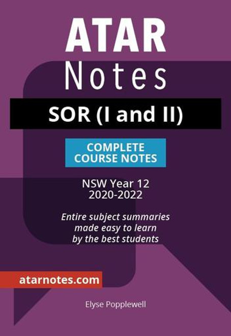 ATAR NOTES HSC Studies of Religion (I and II) Complete Course Notes