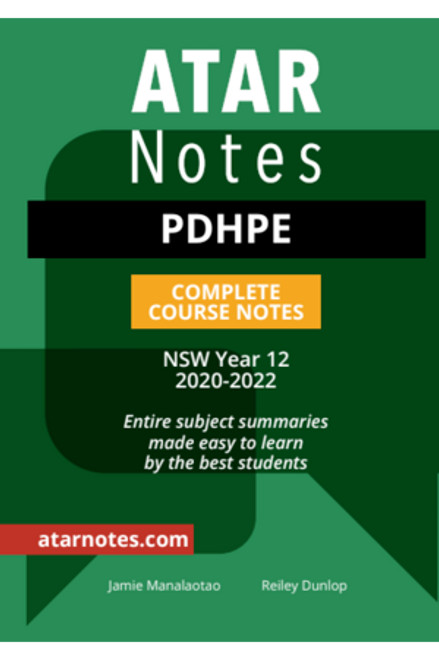 ATAR Notes HSC PDHPE Complete Course Notes