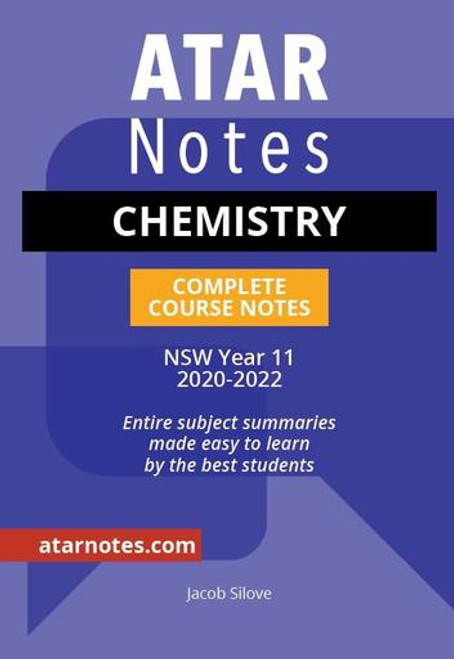 ATAR Notes Preliminary Chemistry Complete Course Notes
