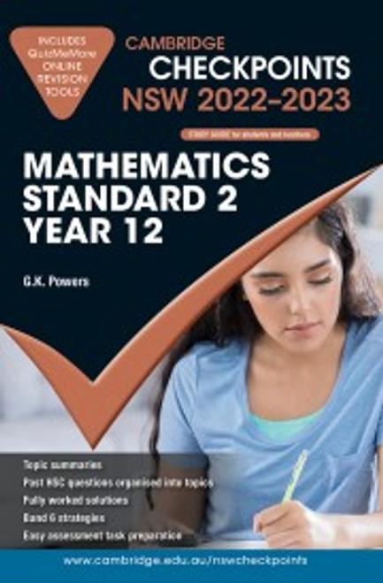 Cambridge Checkpoints NSW (2022-2023) Mathematics Standard 2 Yr 12