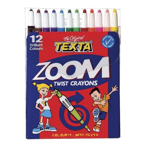 Crayons Texta Zoom Twist Asstd PK12