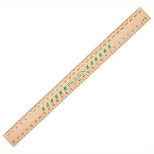 Ruler 300mm Unpolished Wooden