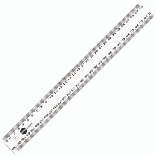 Ruler Plastic Marbig