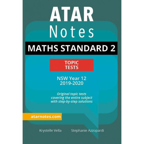 ATAR Notes HSC Maths Standard 2 Topic Tests