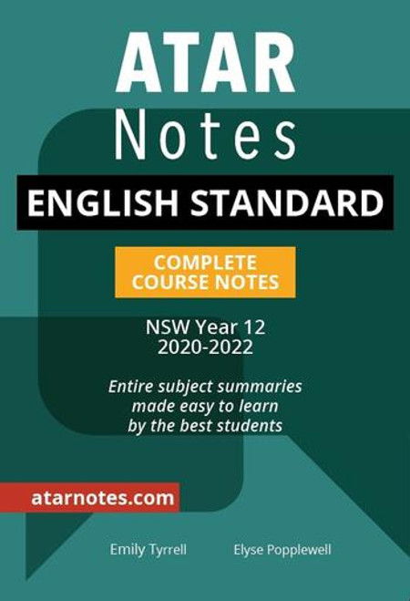 ATAR Notes HSC English Standard Complete Course Notes