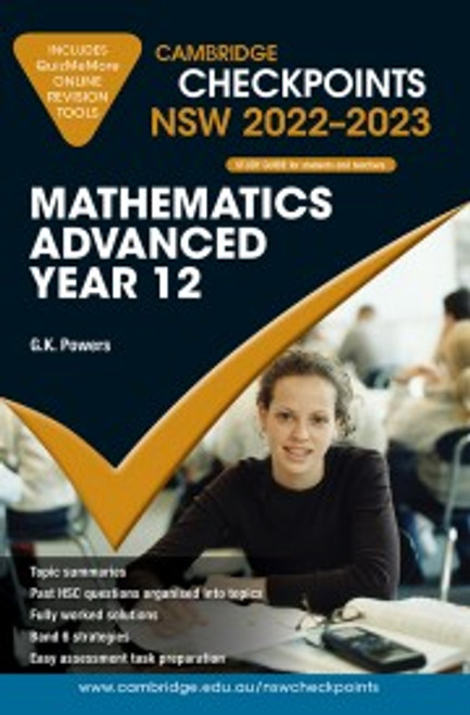 Cambridge Checkpoints HSC NSW (2022-2023): Mathematics Advanced Yr 12