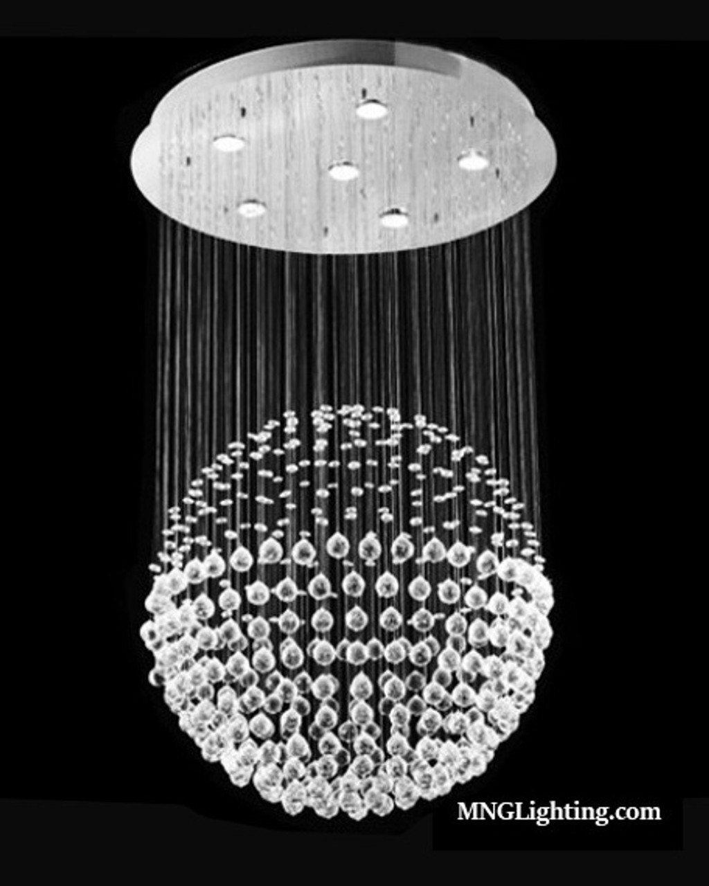 6 Light Ball Sphere Modern Crystal Chandelier Lighting Fixture Mc53066 Modern Chandeliers Montreal Laval Brossard Ottawa Canada Usa Online Sale