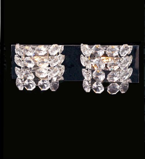 modern crystal chrome wall sconce light fixture, modern crystal wall sconce, modern crystal vanity light, modern vanity light fixture, crystal wall light, crystal vanity wall light, modern crystal wall light