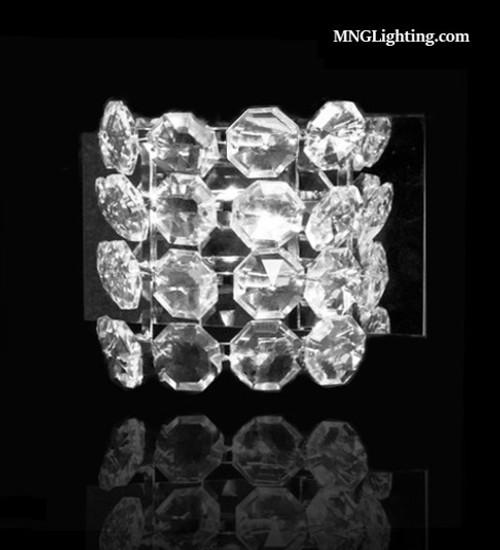modern crystal wall sconce light fixture, crystal wall sconce, crystal wall light, modern sconce, crystal vanity light fixture