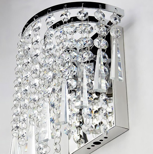modern crystal chrome wall sconce light fixture , luminaire mural,luminaire mural foyer