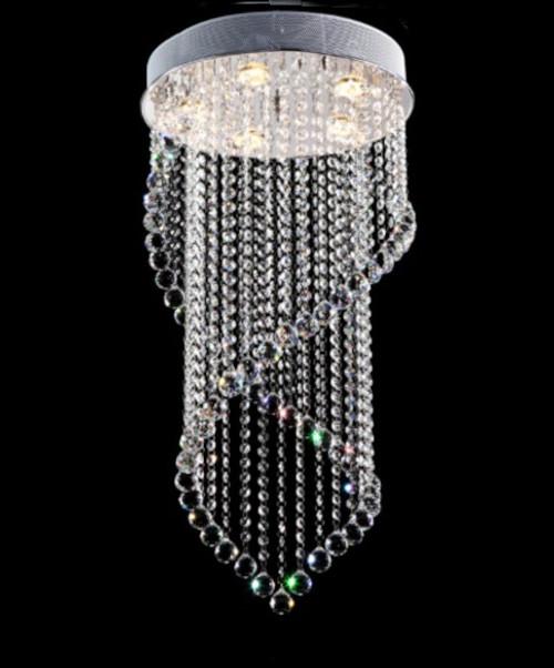spiral crystal chandelier lighting fixture, foyer chandelier, entryway chandelier