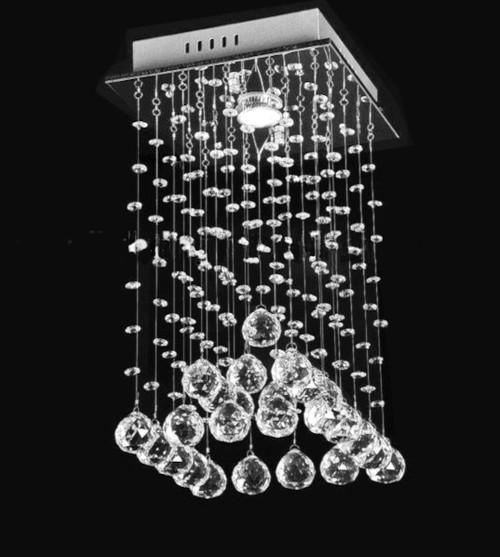 small mini 1 light raindrop modern crystal chandelier light, square ceiling light fixture, square raindrop chandelier, square raindrop modern crystal chandelier, small entryway chandelier, square crystal light fixture, mini chandelier, mini crystal chandelier, small foyer light, square modern crystal light fixture, square mini small crystal chandelier, rain drop crystal chandelier