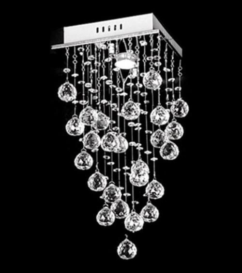 mini chandelier, raindrop  crystal chandelier light, raindrop modern crystal chandelier 1-light fixture, raindrop chandelier, raindrop modern crystal chandelier light fixture, raindrop round chandelier,1-light mini crystal chandelier, 1-light raindrop modern crystal chandelier, foyer modern crystal chandelier light, entryway raindrop chandelier, small foyer light, modern flush mount light, small square chandelier, small foyer light fixture