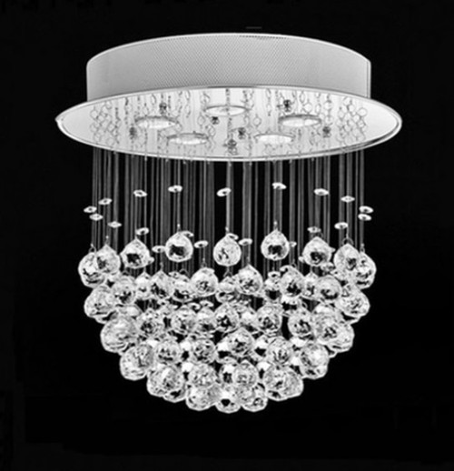 ball round crystal chandelier ceiling light, modern crystal ceiling light, crystal ball chandelier