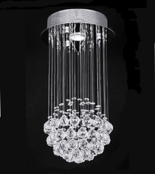 ball modern crystal chandelier light fixture, crystal ball chandelier pendant light