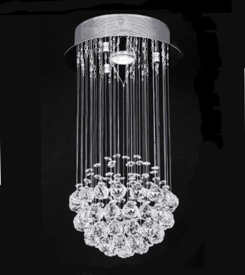 ball modern crystal chandelier light fixture, crystal ball chandelier pendant light, small 1 light mini chandelier