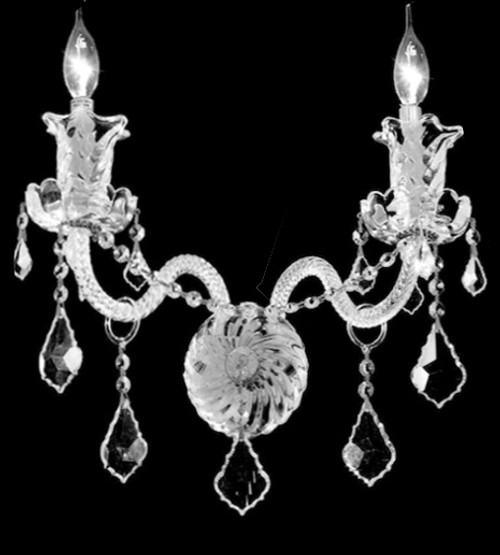 crystal wall sconce, candle crystal wall sconce