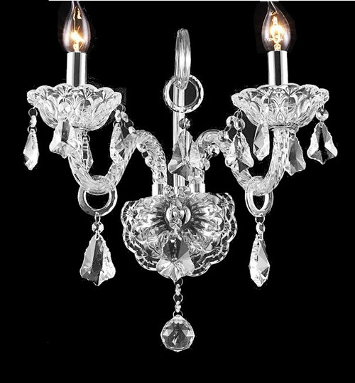 Candle Crystal Wall Sconce Light