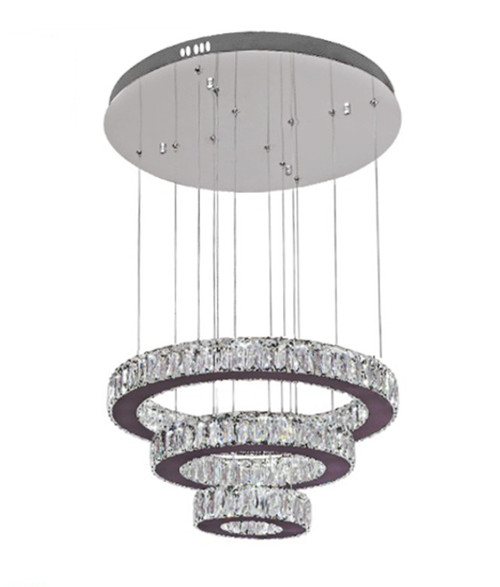 three tier crystal pendant chandelier light fixture