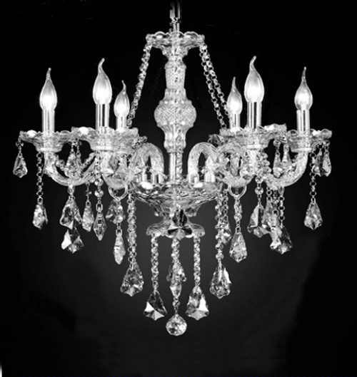 traditional crystal chandelier 6 light, classic crystal chandelier, bedroom chandelier, bedroom traditional chandelier