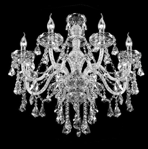 traditional classic crystal chandelier eight light
