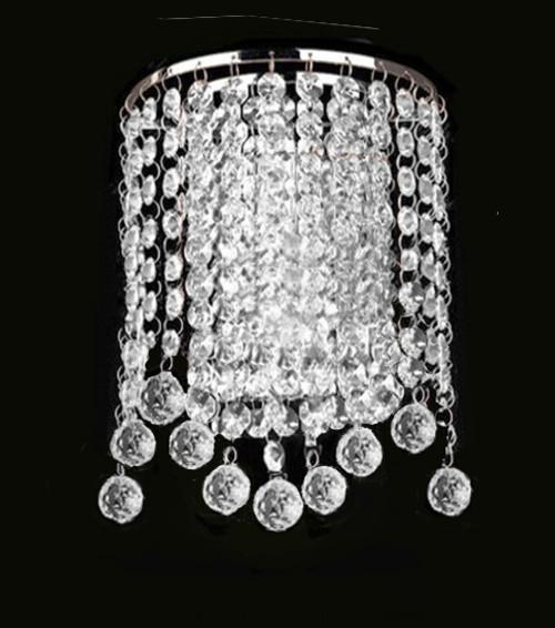 modern crystal wall light sconce fixture
