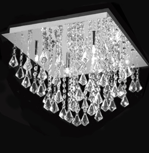 flush mount square crystal chandelier ceiling light fixture, modern ceiling light, modern ceiling light bedroom, bedroom ceiling light fixture