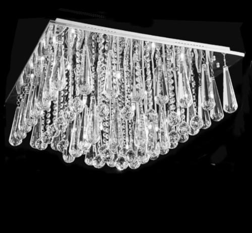 square crystal chandelier flush mount ceiling light fixture, entryway crystal chandelier flush mount ceiling light, foyer crystal chandelier, square crystal chandelier, square chandelier, square crystal chandelier light, Square Crystal Flush Mount Light