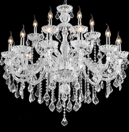 18 lights traditional classic candle crystal chandelier, large crystal chandelier, large crystal chandelier for foyer