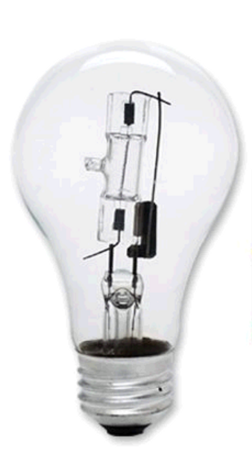 53A19CL/ECO 53 Watt Clear A19 EcoHalogen 2 Pack