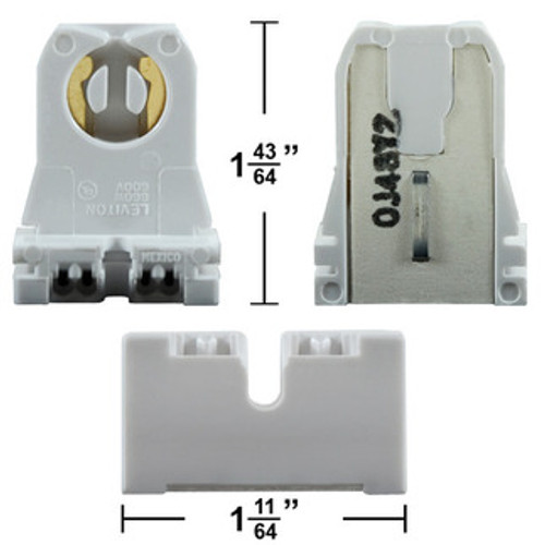 "Short (1-1/2"") Non-Shunted Bi-Pin Socket"