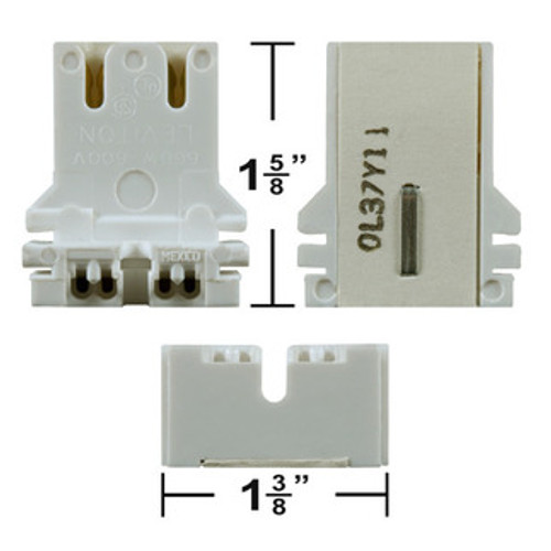 U-Bend Push In Bi-Pin Socket