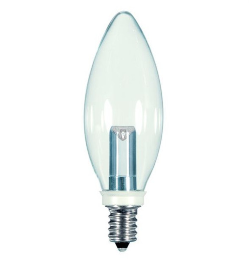 1 WATT CLEAR DECORATIVE LED LAMP 27K (EQUAL TO 15W) - SATCO #S9152