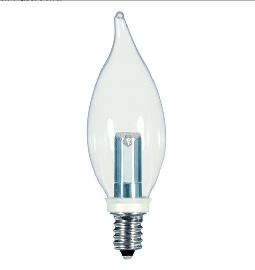 1 WATT FLAME TIP DECORATIVE LED LAMP 27K (EQUAL TO 15W) - SATCO #S9153