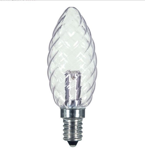 1 WATT CRYSTAL DECORATIVE LED LAMP 27K (EQUAL TO 15W) - SATCO #S9155