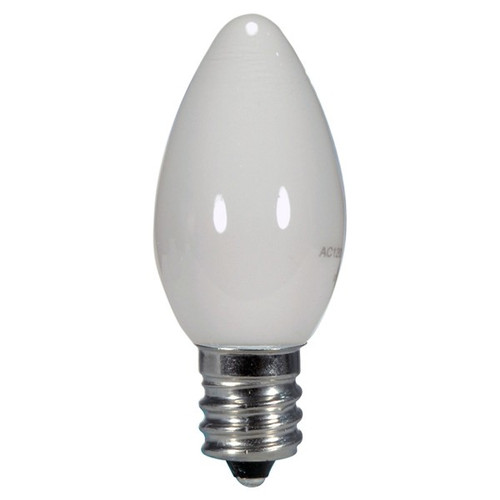 0.5 WATT C7 LED LAMP WHITE 27K (EQUAL TO 7W) - SATCO #S9157