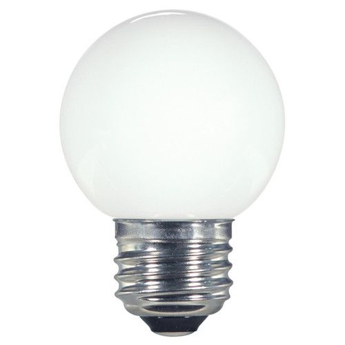1.4 WATT G16.5 GLOBE LED LAMP WHITE 27K (EQUAL TO 15W) - SATCO #S9159